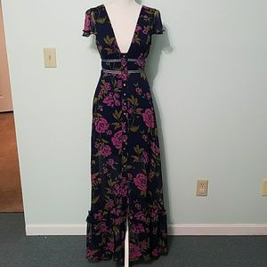 NWOT Express Floral Maxi Dress